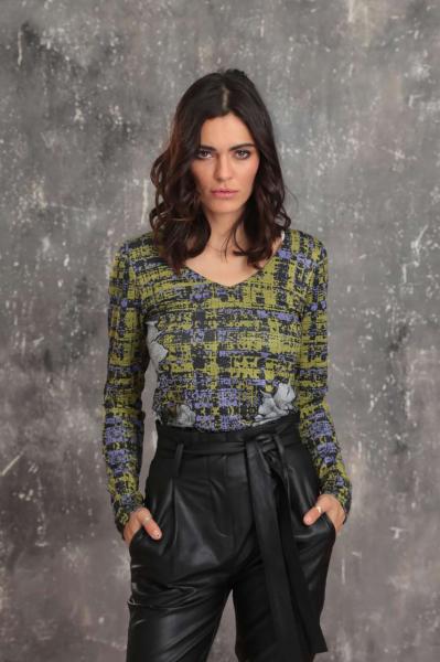 Classic v-neckline blouse