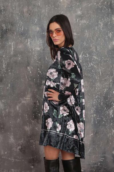 Multicolor velvet dress