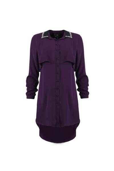 Purple classic casual shirt