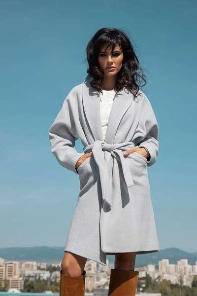 Elegant Belted Wool Coat