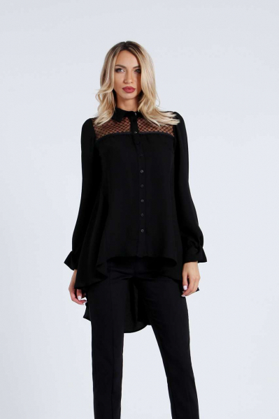 Tunic shirt with buttons