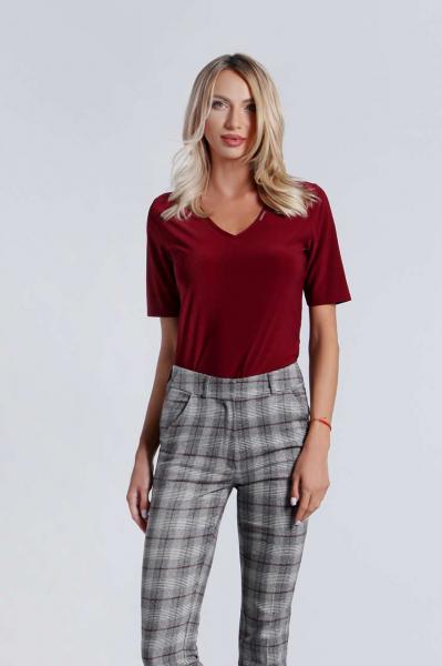 Classic v-neck blouse