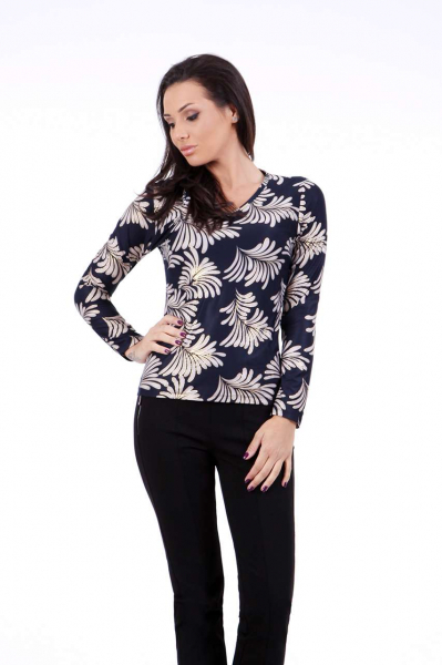 Ornament print blouse