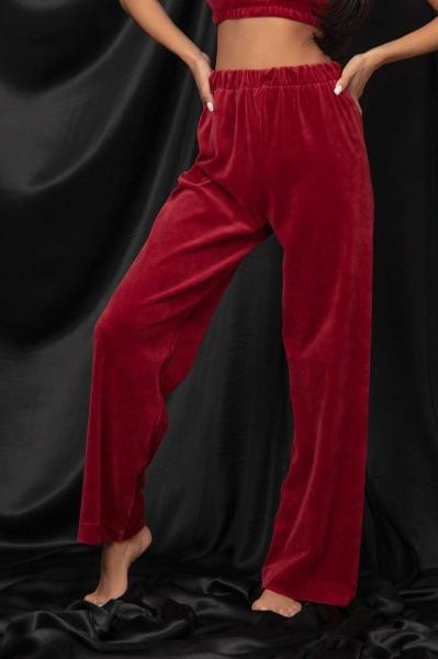 Velvet trousers.