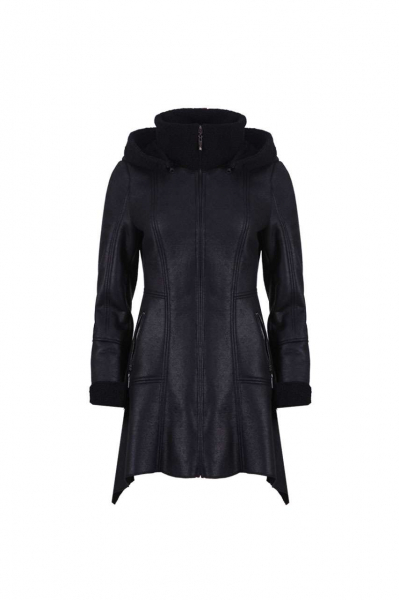Asymmetric Hooded Coat Jacket