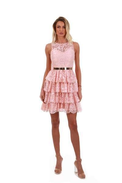 Ruffle short lace dress