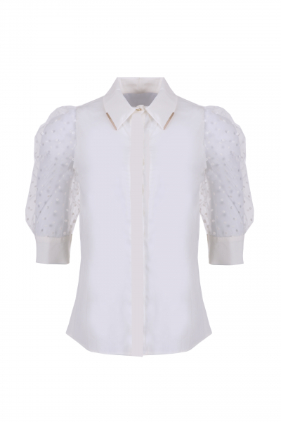 Ladies shirt with 3/4 sleeves