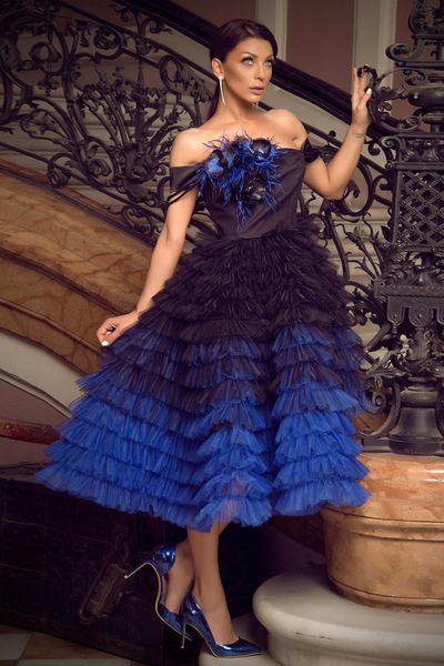 Women's dress Blue Magic
