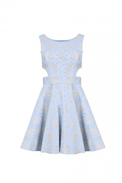Elegant Jacquard Dress