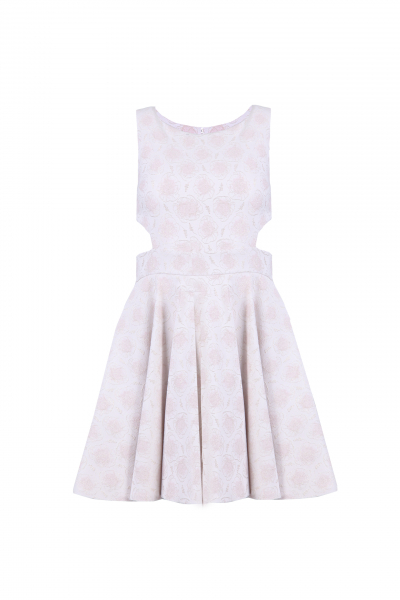 Elegant Jacquard Dress