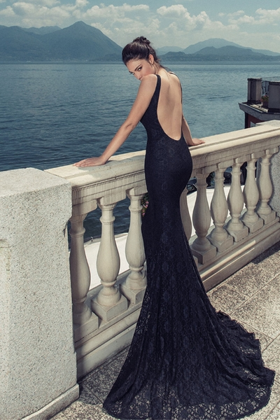 Elegant dress Junona - Sea