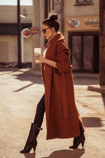 Elegant Wool Belted Coat