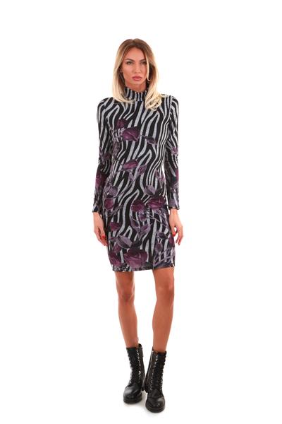 Turtleneck Casual midi Dress