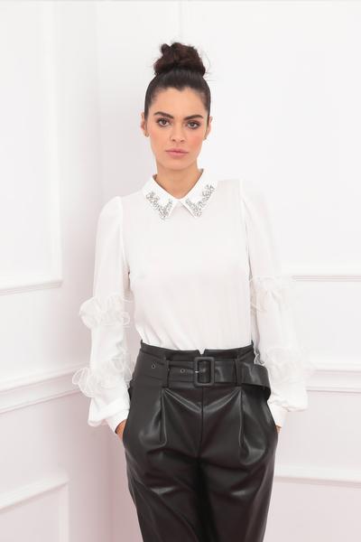white bodysuite blouse