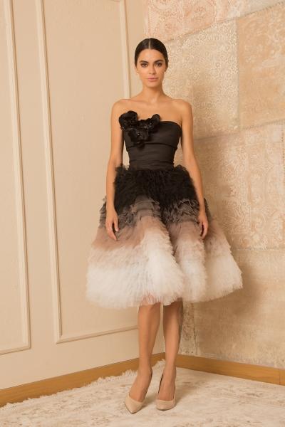 Elegant Black & White Dress
