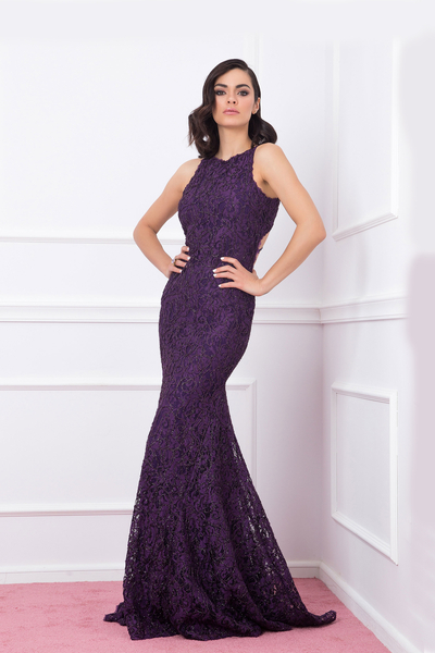 Elegant dress Junona purple