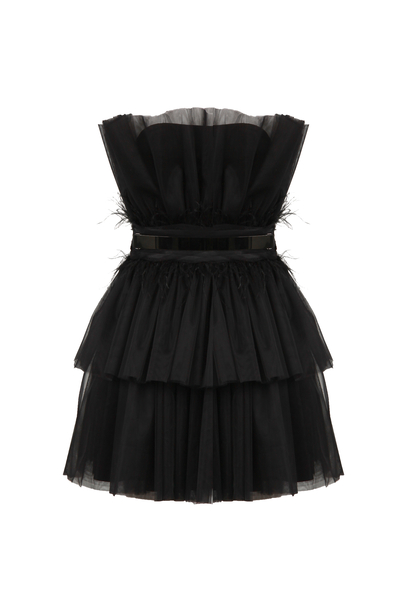 Strapless short tulle dress