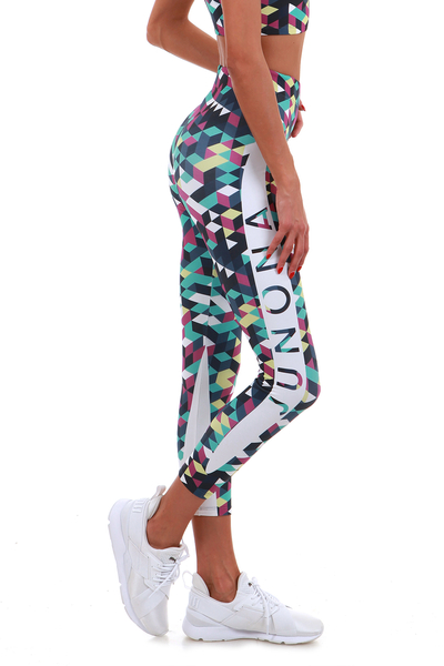 Printed leggings Active green