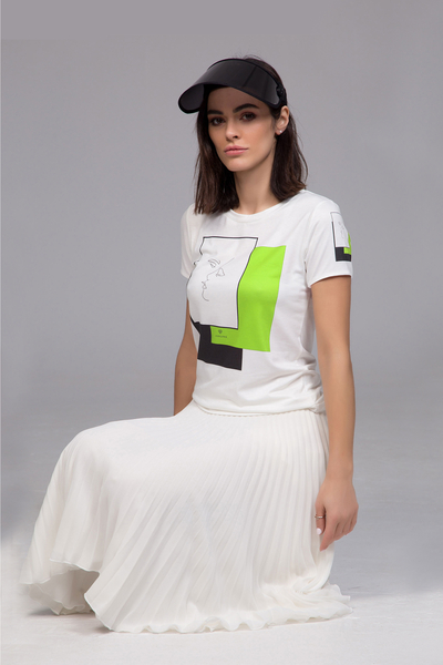 T-shirt with print neon