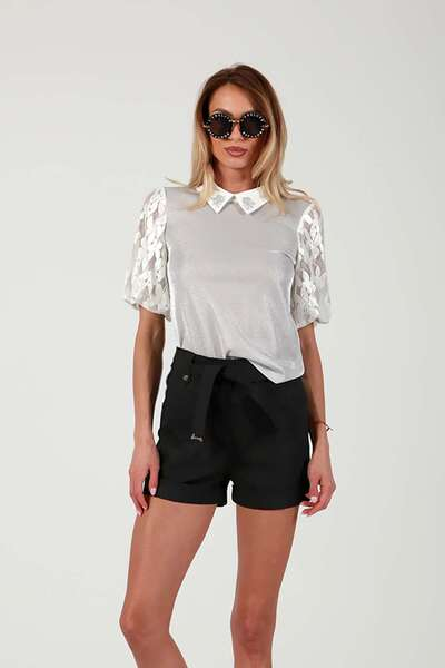 Elegant lame shirt