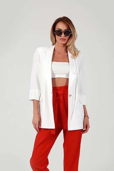 Classic linen blazer