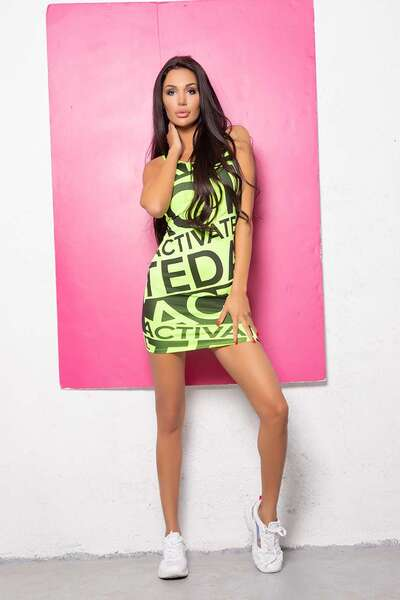 Neon Green sports dress