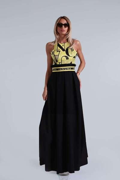 Long dress with pleats