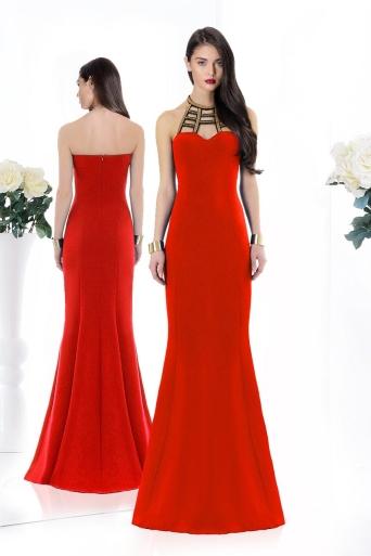 elegant dress Junona red