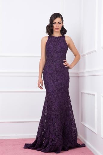 Elegant dress Junona purple