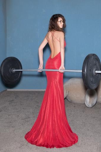 Womens dress Junona Red Lips