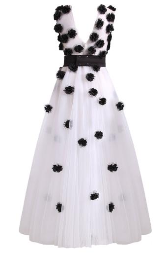 Women's dress Black Flower