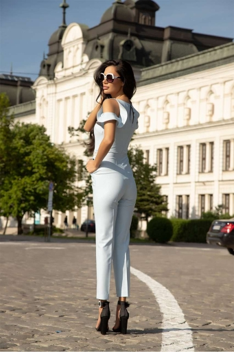 Women's overalls with ruffles